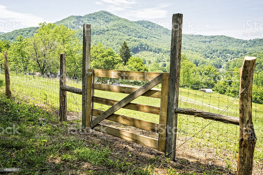 Rustic Farm Gate royalty-free stock photo