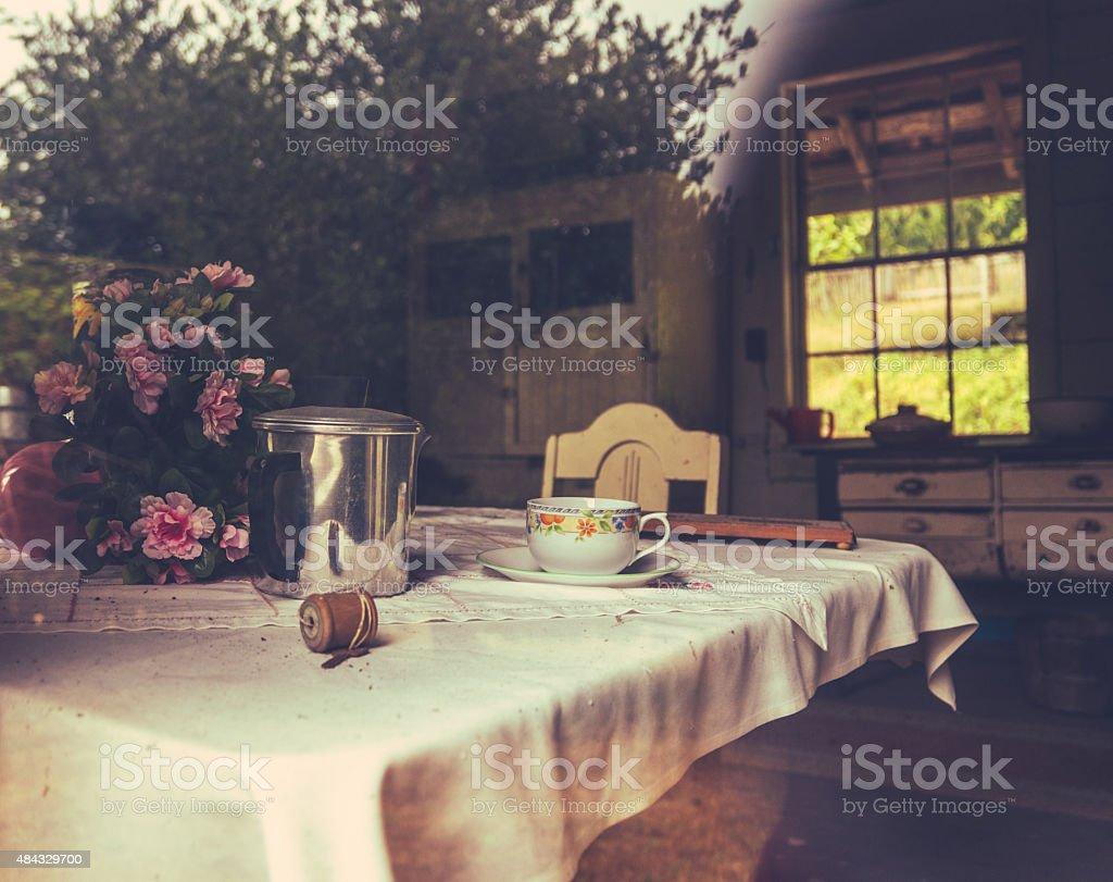 Rustic Farmhouse Kitchen stock photo
