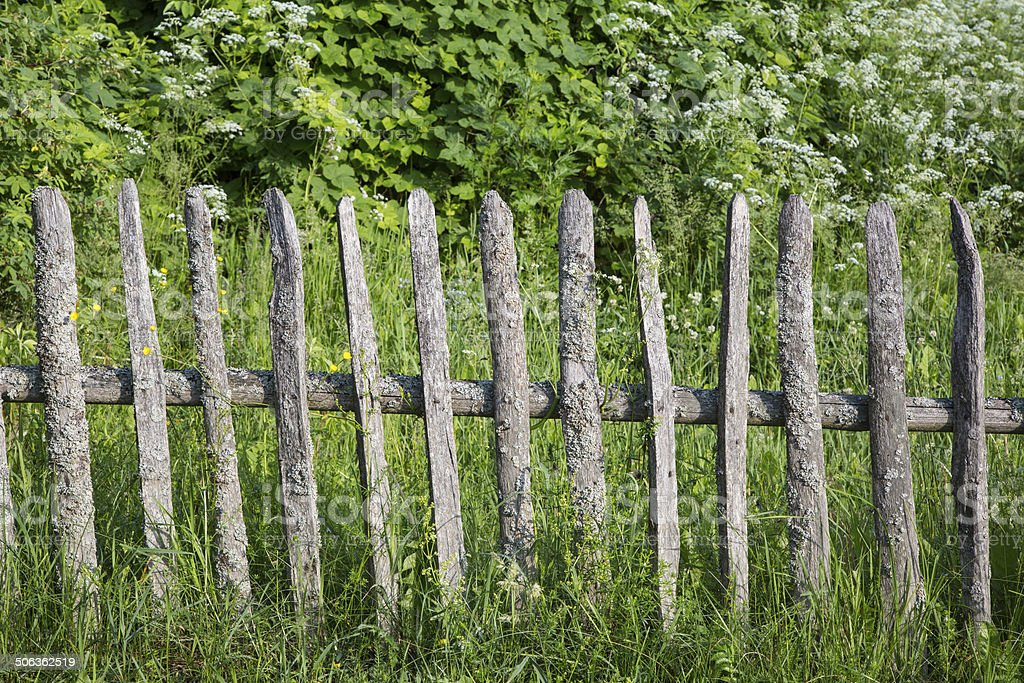 rustic fence stock photo
