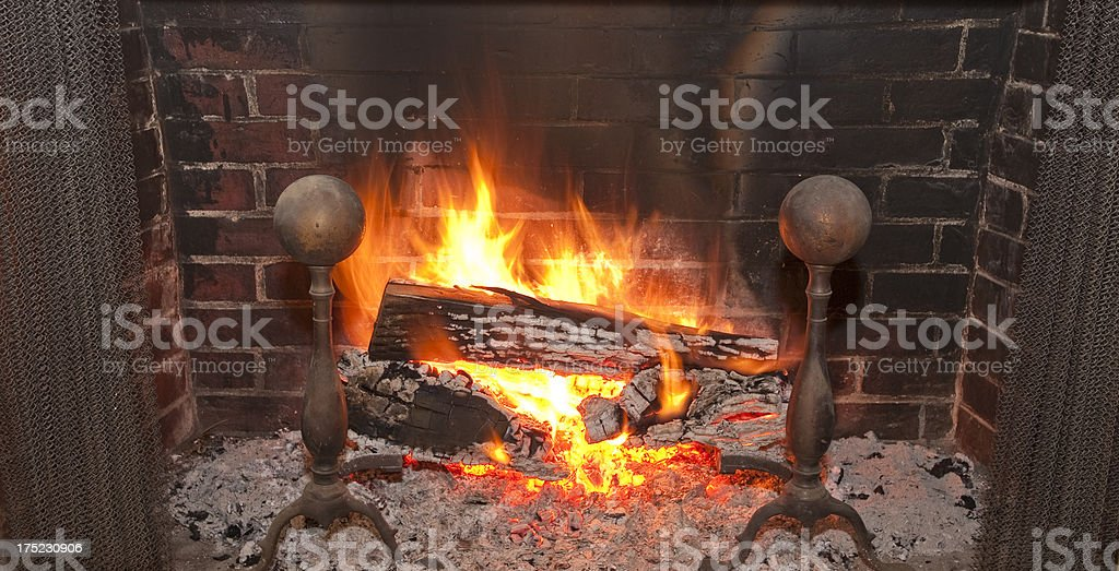 Rustic Fireplace royalty-free stock photo