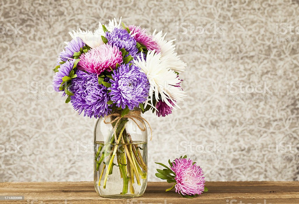 Rustic Flower Arrangement stock photo