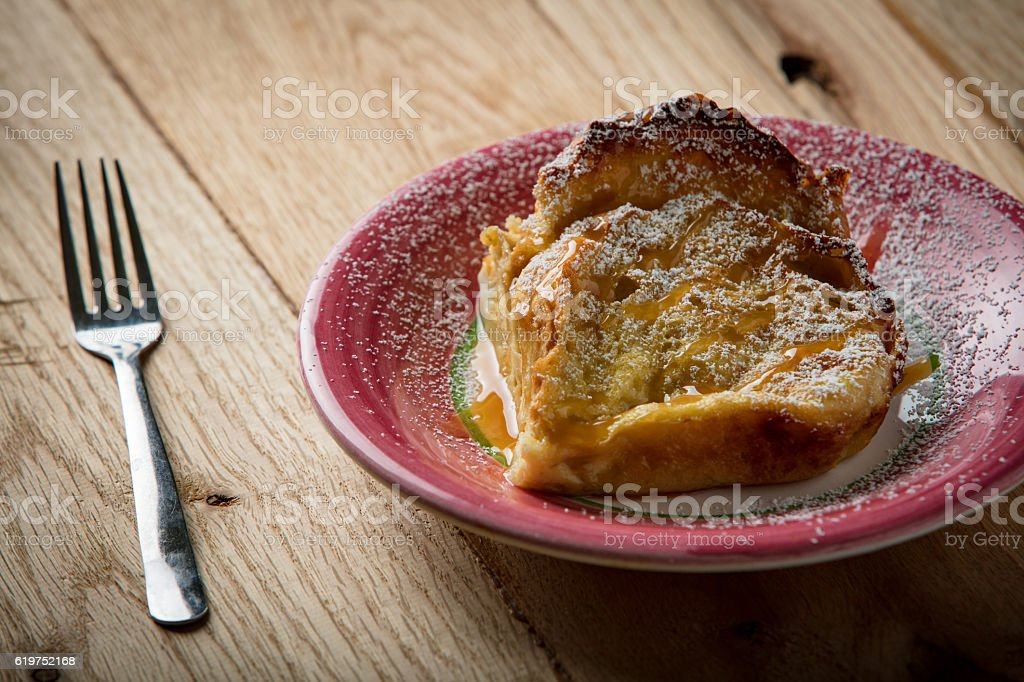 Rustic french toast stock photo