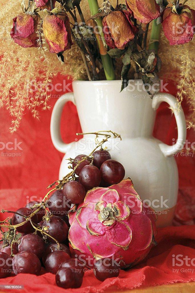 Rustico natura morta di frutta foto stock royalty-free