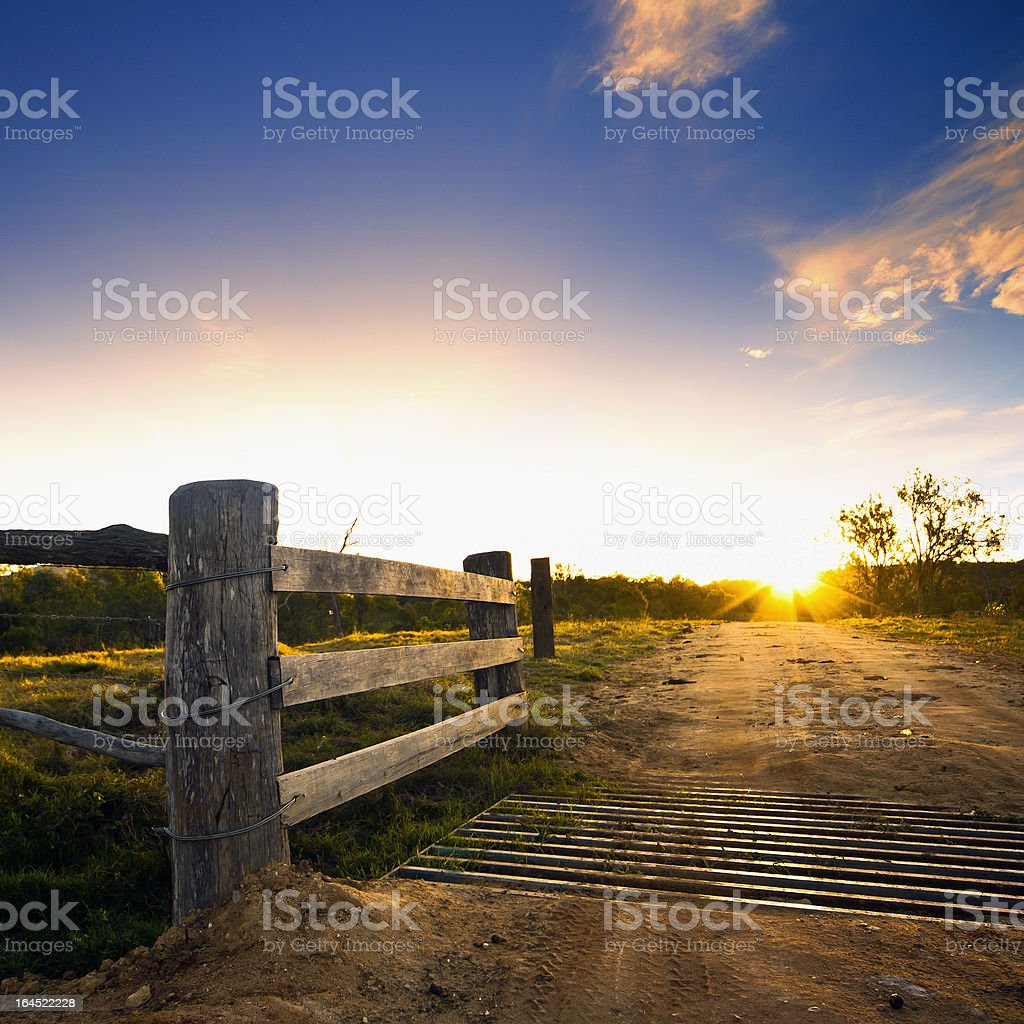 Rustic Gate, Rural Farm royalty-free stock photo