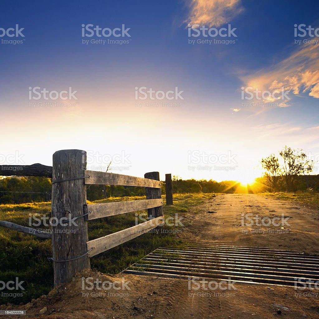 Rustic Gate, Rural Farm stock photo
