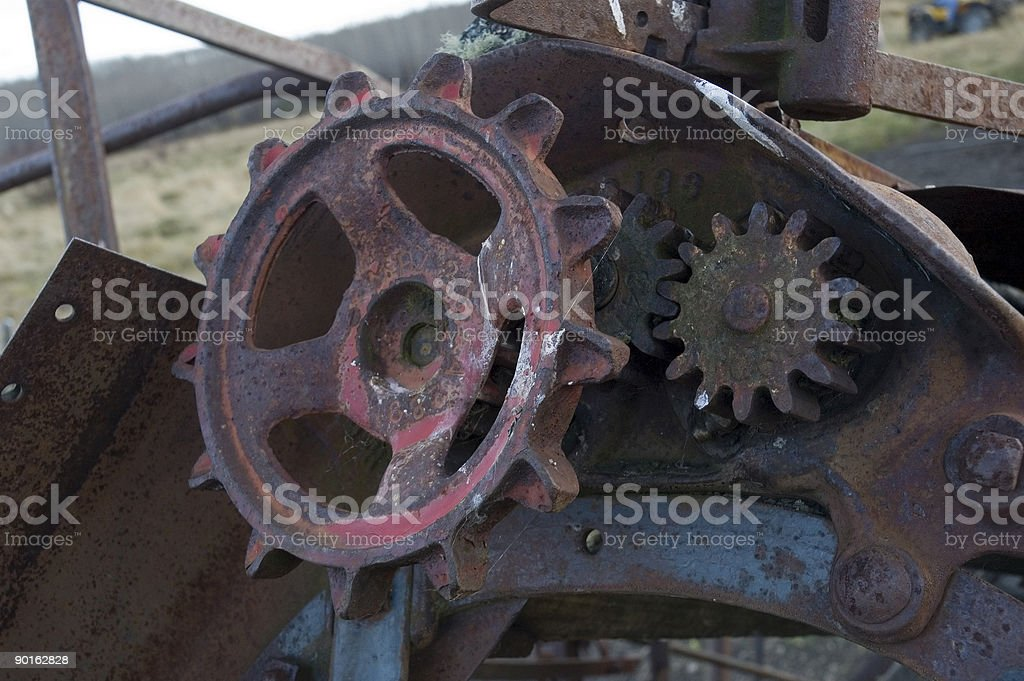 Rustic Gears royalty-free stock photo