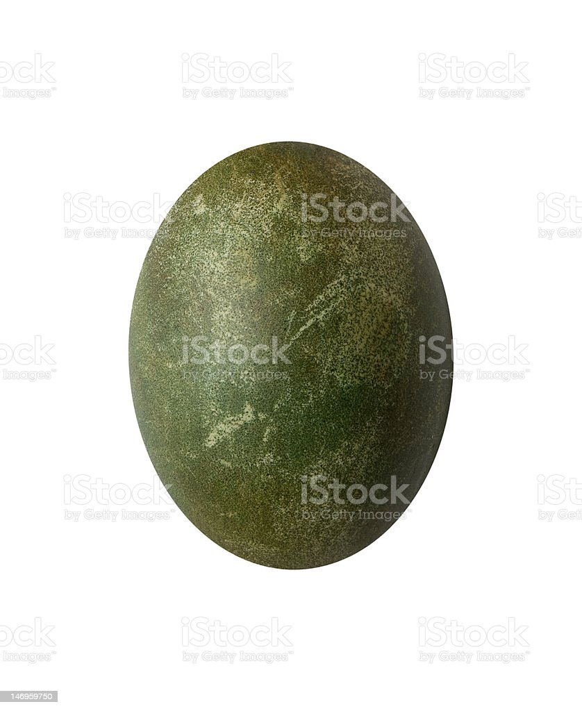 rustic green easter egg royalty-free stock photo