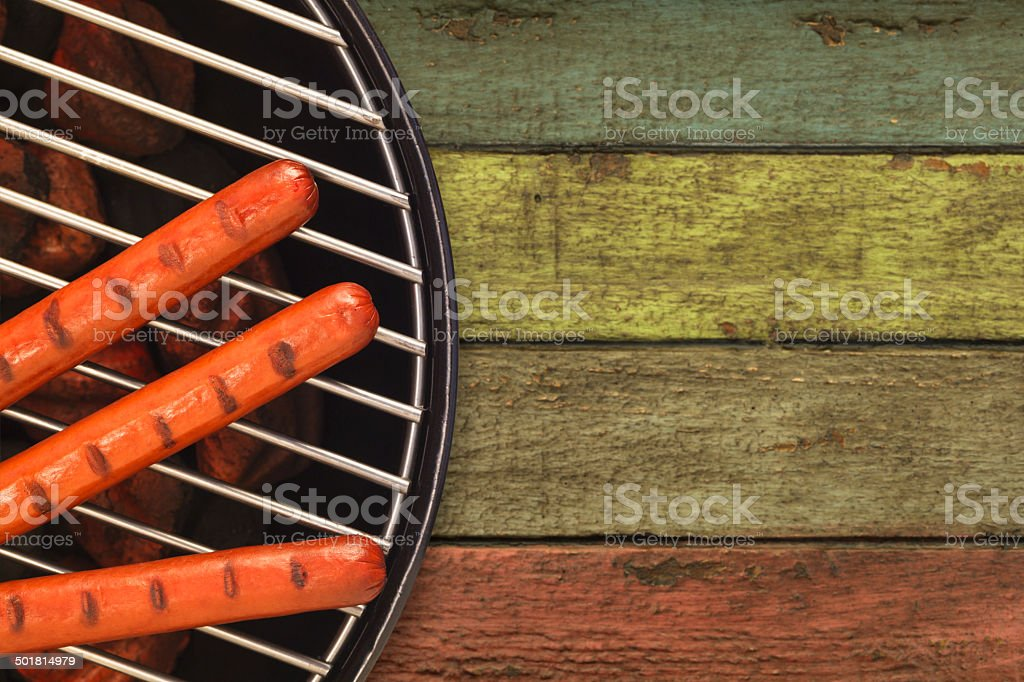 Rustic Grilling stock photo
