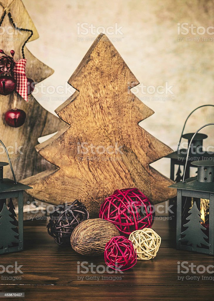 Rustic Holiday Arrangement stock photo