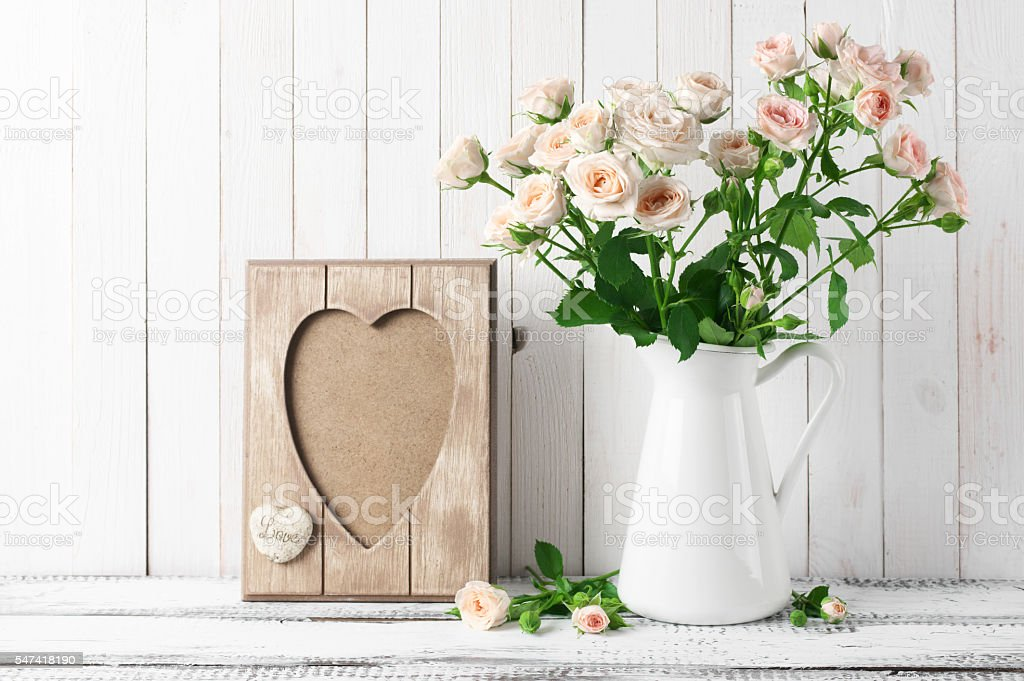 Rustic home decoration stock photo