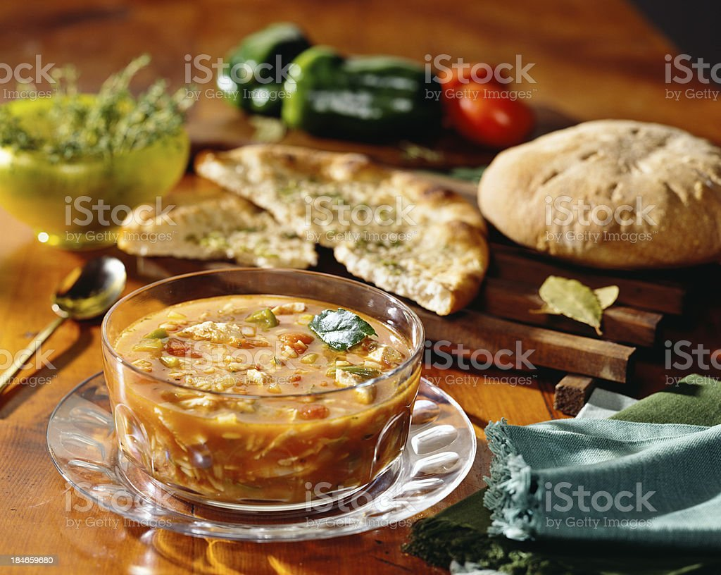 Rustic Italian soup royalty-free stock photo