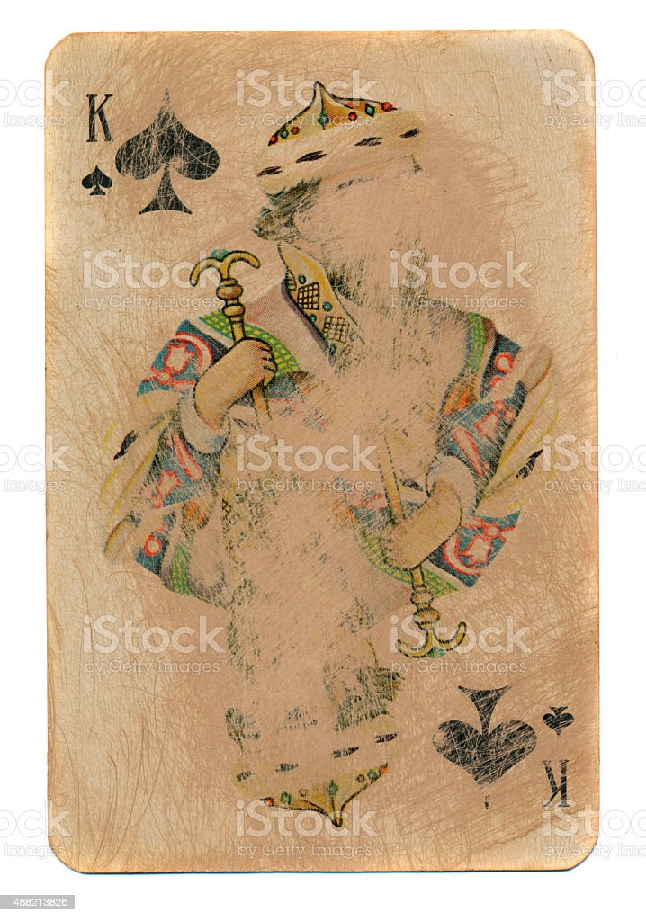 Rustic king of spades card stock photo