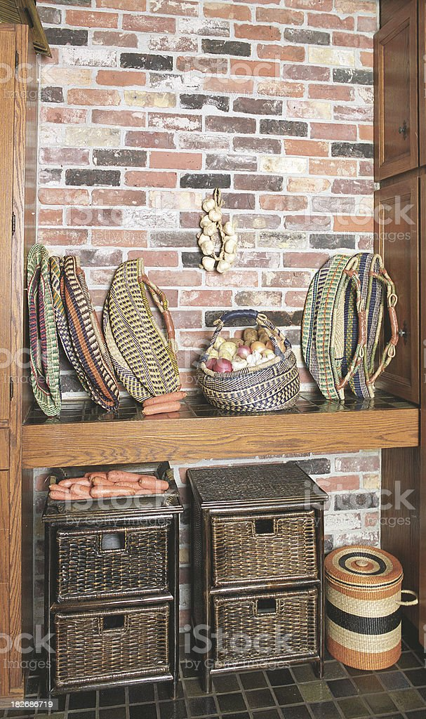 Rustic Kitchen corner royalty-free stock photo