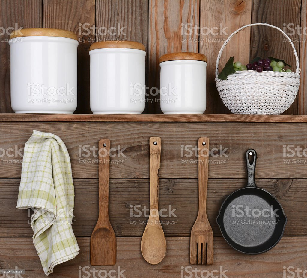 Rustic Kitchen Display stock photo