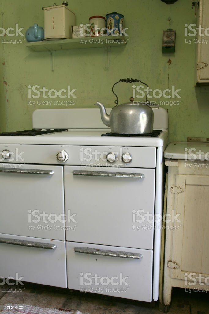 rustic kitchen stock photo