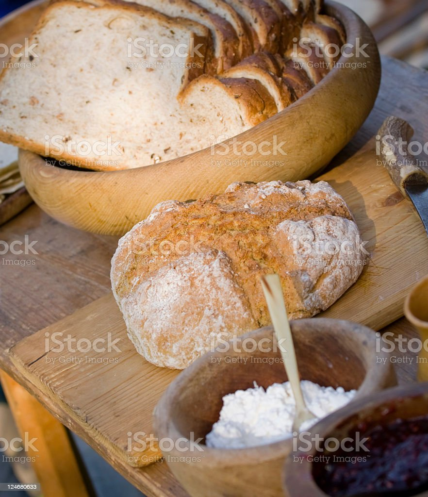 Rustic Kitchen Table royalty-free stock photo