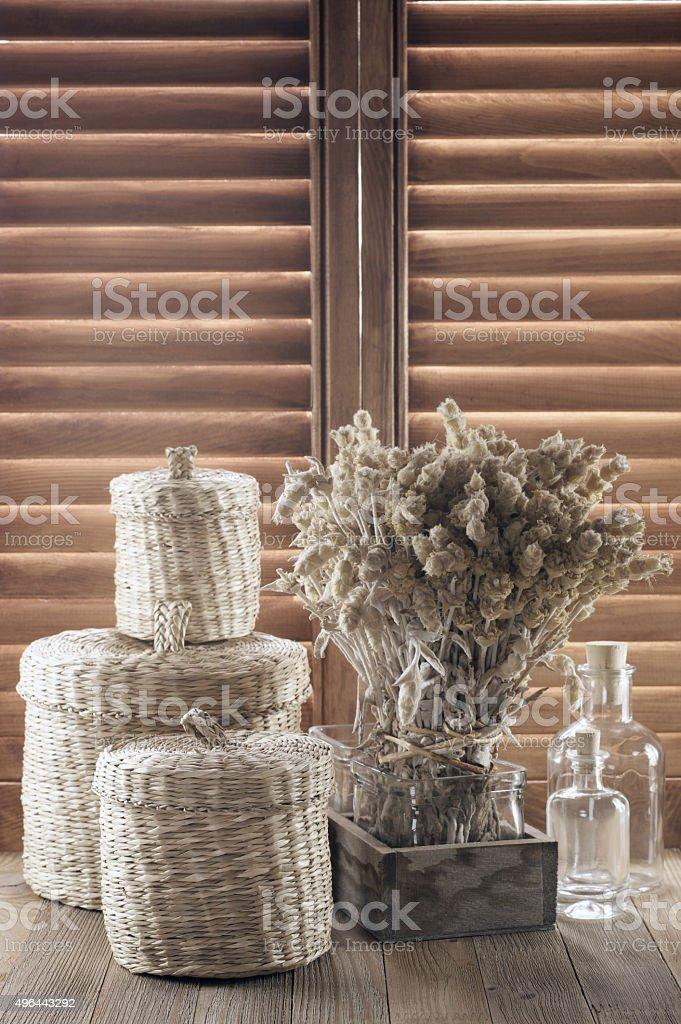 Rustic kitchen utensil stock photo