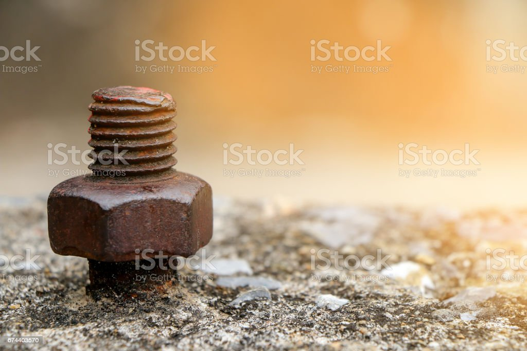 Rustic knot on cement stock photo
