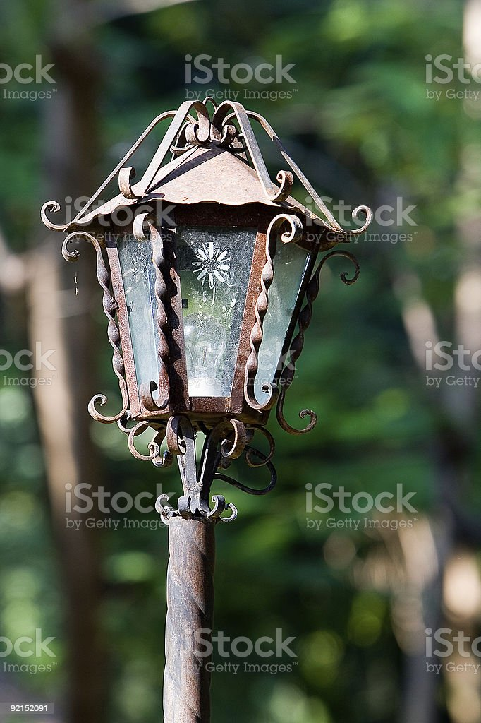 Rustic lamp close-up royalty-free stock photo