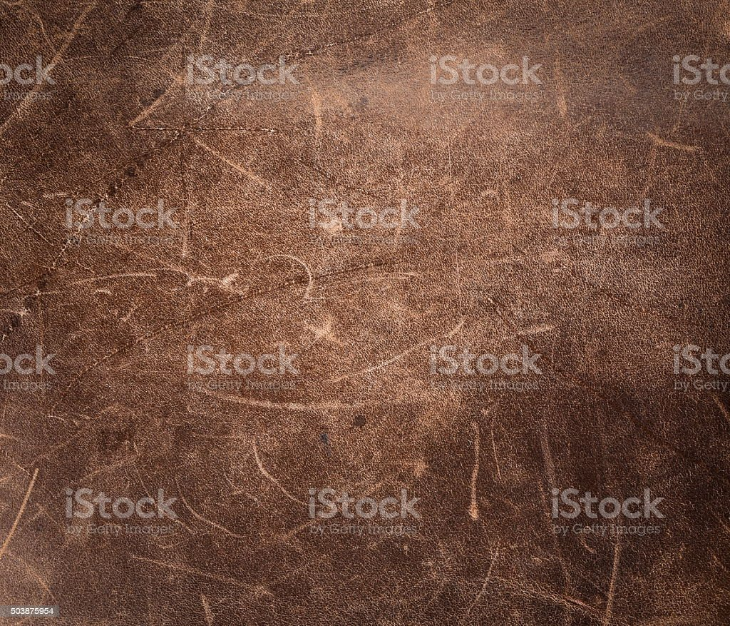 Rustic leather background stock photo