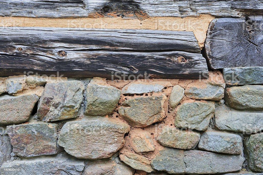 Rustic log cabin detail royalty-free stock photo