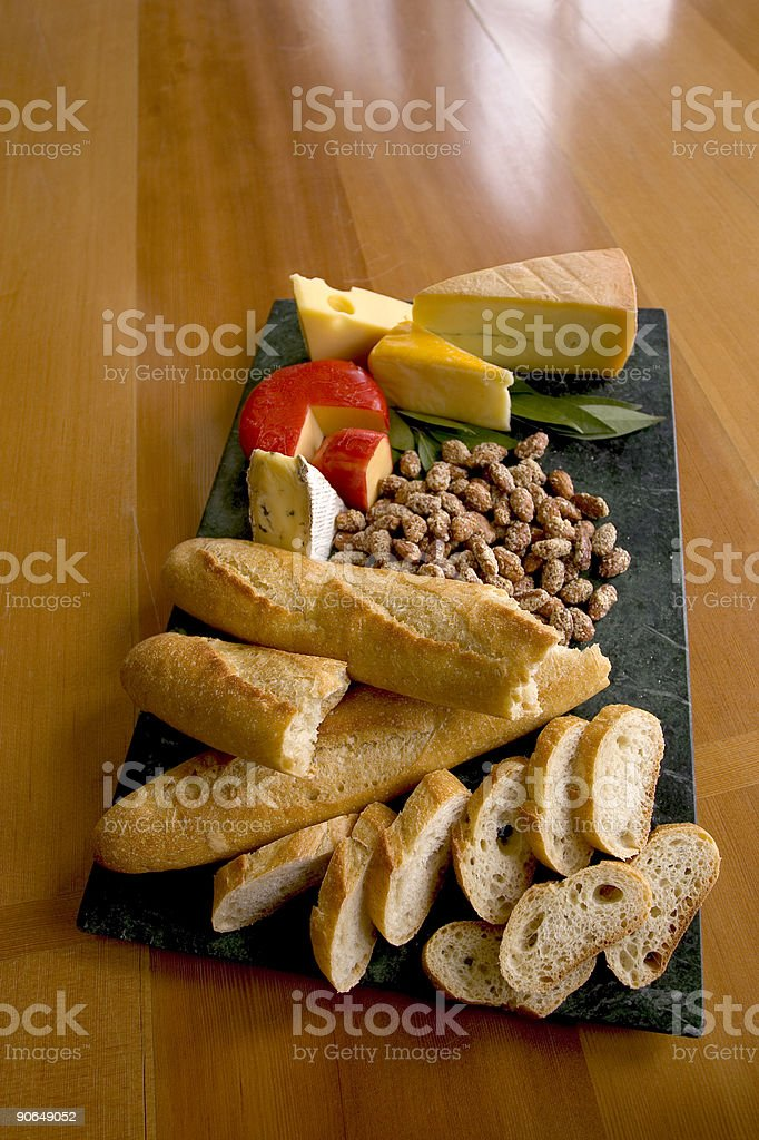 Rustic Lunch Tray stock photo