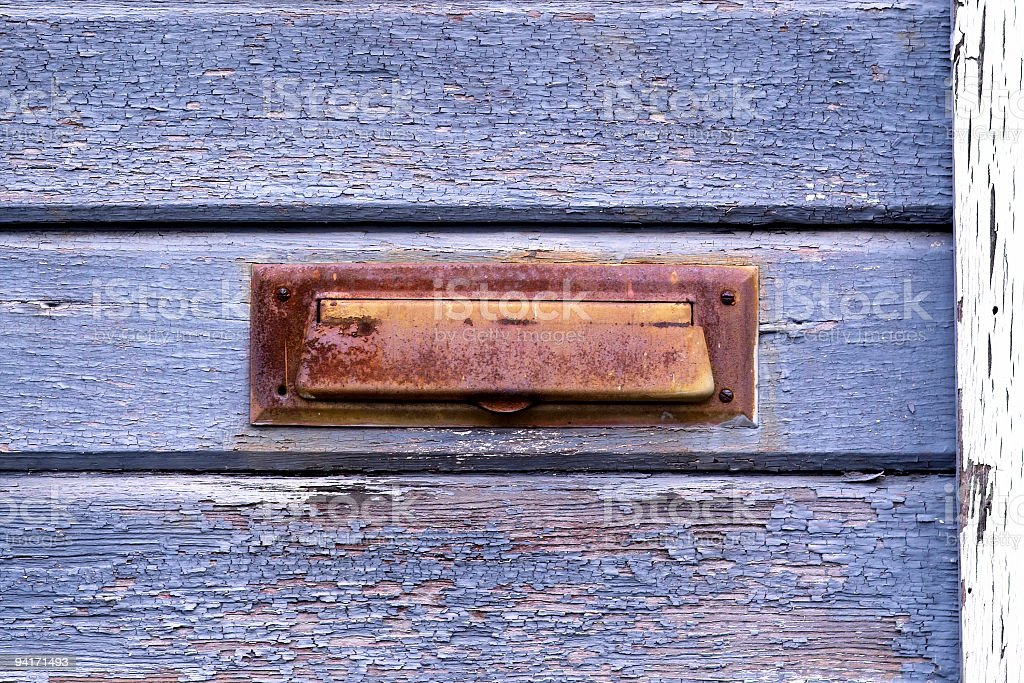Rustic Mail Drop royalty-free stock photo