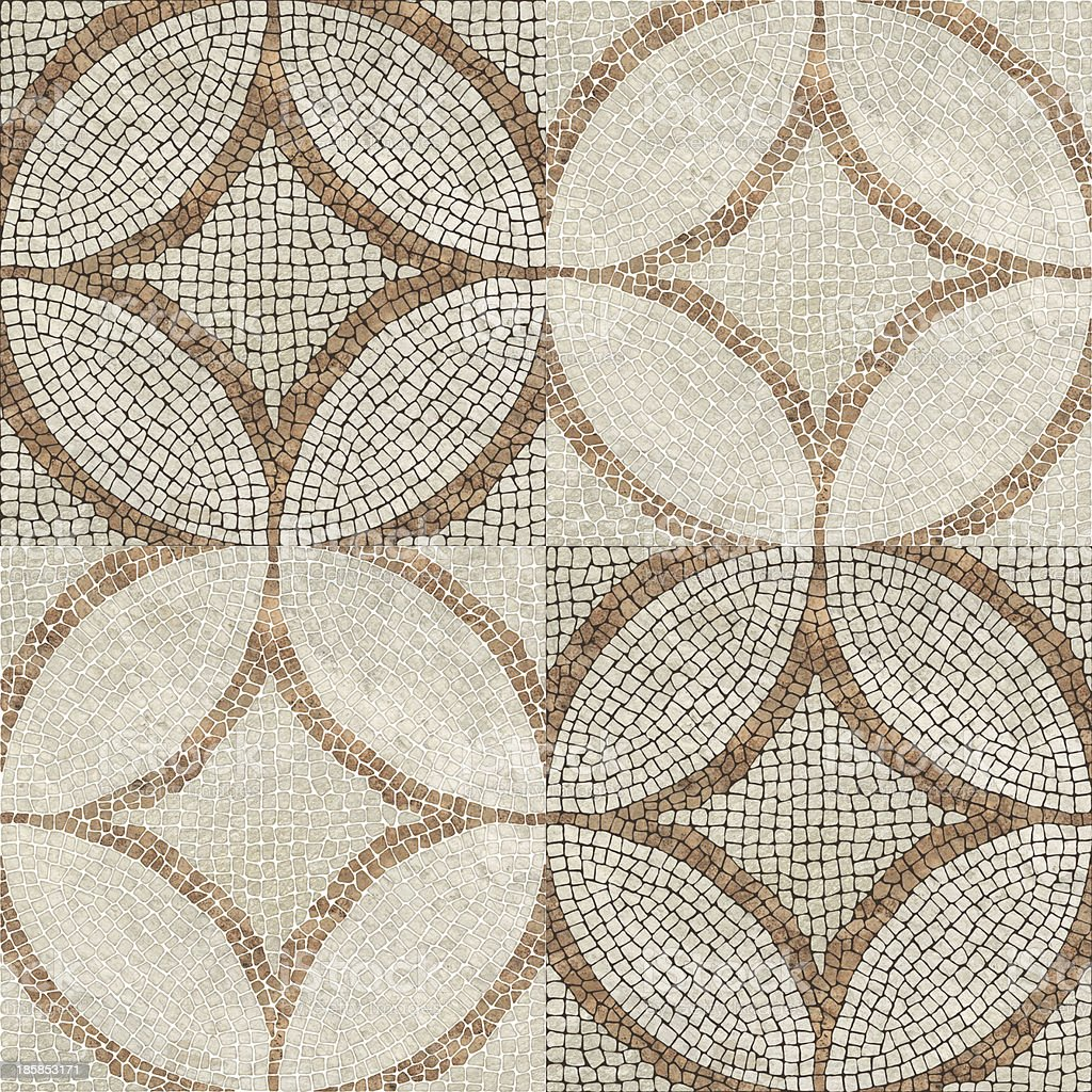 Rustic marble mosaic. stock photo