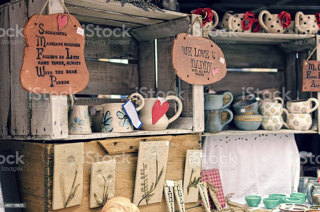 Rustic Market Stall stock photo