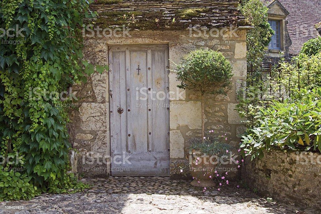 Rustic Mediterranean doorway royalty-free stock photo