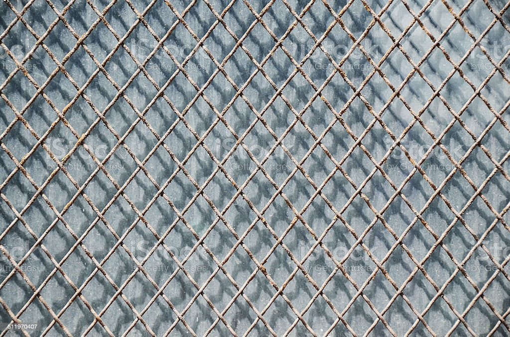 Rustic Metal Fence stock photo