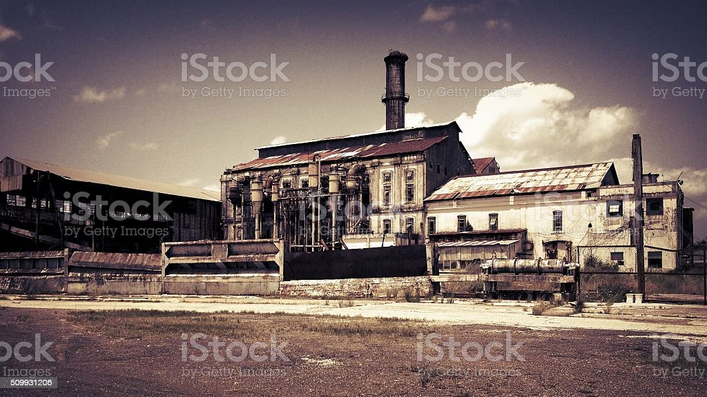 Rustic Mill Factory stock photo
