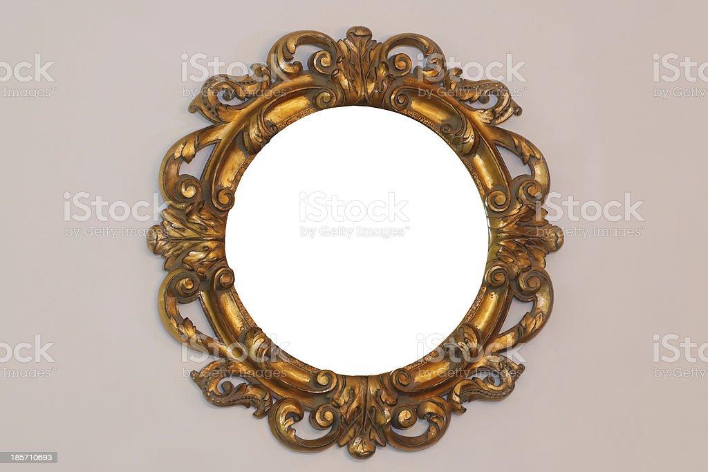 Rustic mirror stock photo