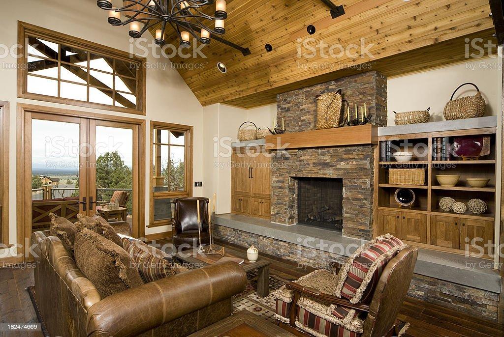 Rustic modern living room royalty-free stock photo
