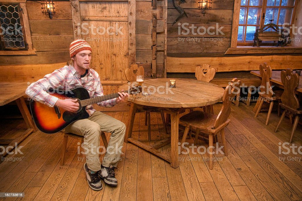 Rustic Musician stock photo
