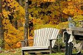 Rustic Natural Adirondack Chair