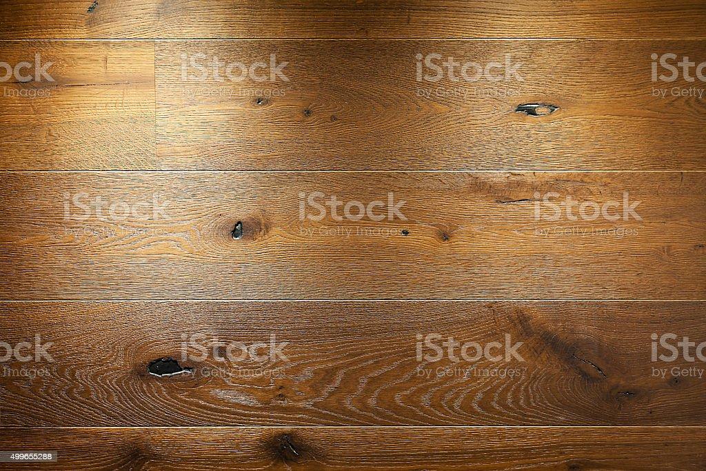 Rustic oak flooring detail stock photo