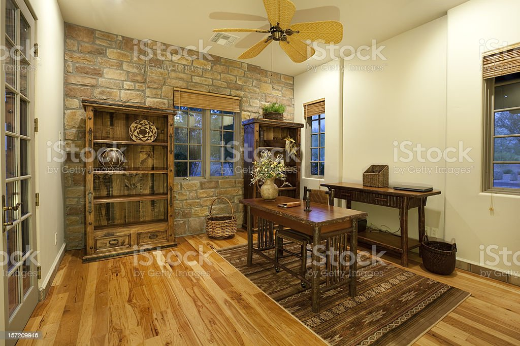 Rustic Office stock photo