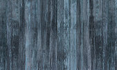 Rustic Old Blue Black Woodgrain Fence Boards Abstract Background