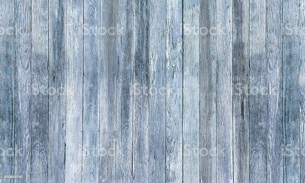 Rustic Old Light Blue Gray Woodgrain Fence Boards Abstract Background stock photo