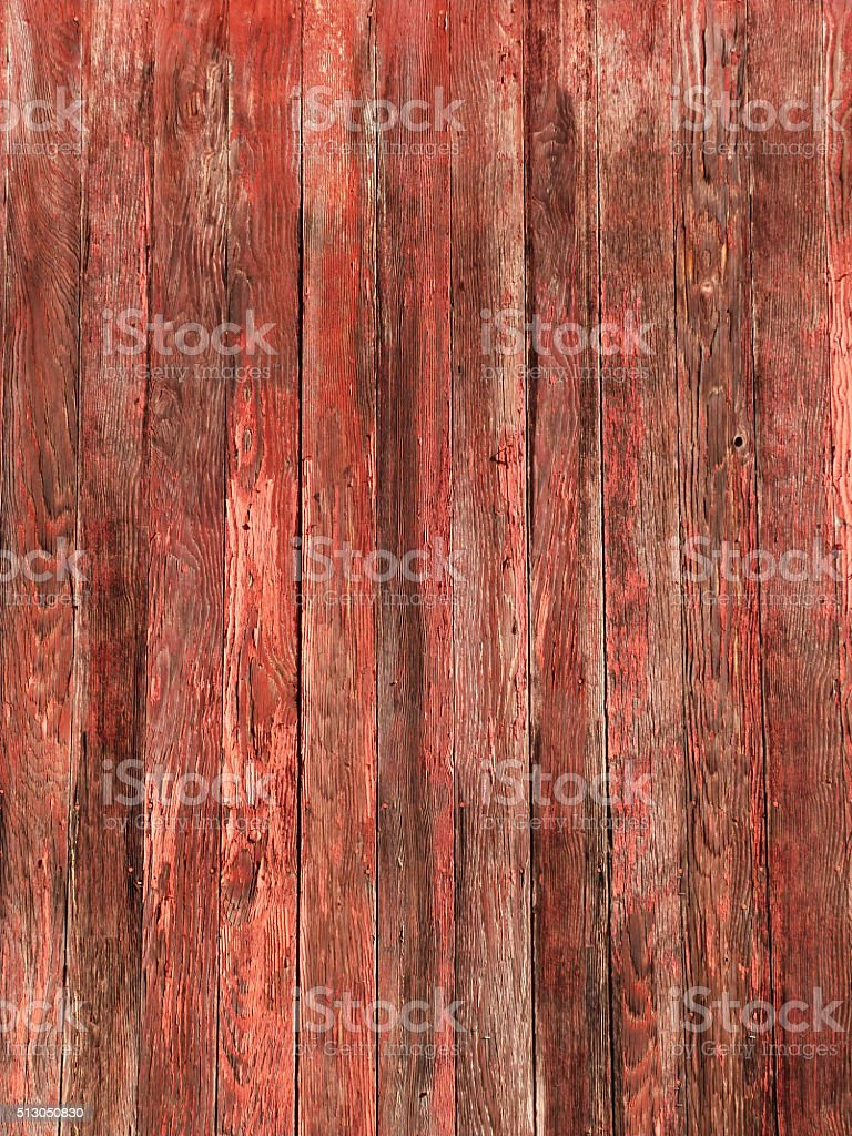 Rustic Old Red Brown Woodgrain Fence Boards Abstract Background stock photo