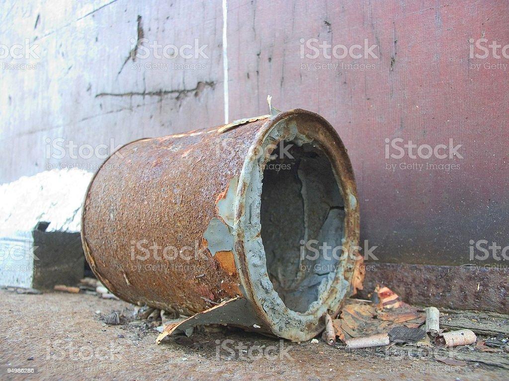 rustic old tin stock photo