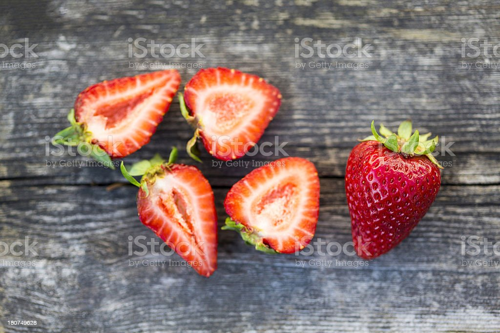 Rustic Organic Strawberries royalty-free stock photo