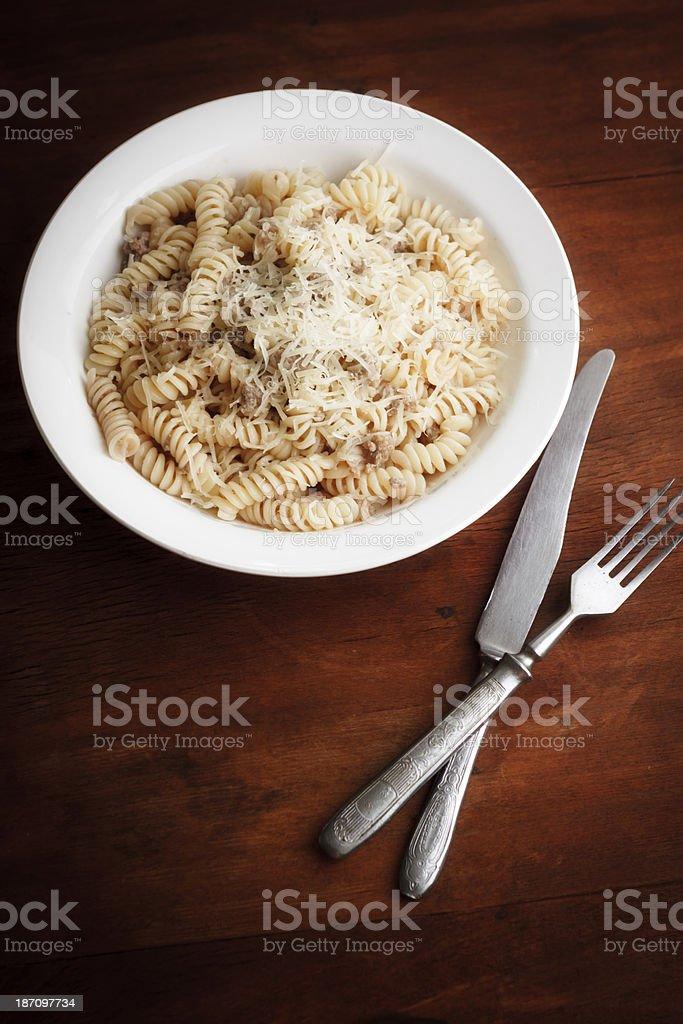 rustic pasta royalty-free stock photo