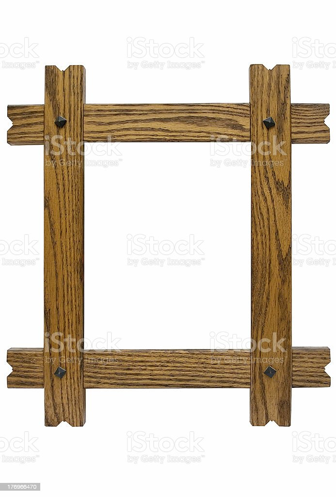 Rustic Picture Frame w/ Path royalty-free stock photo