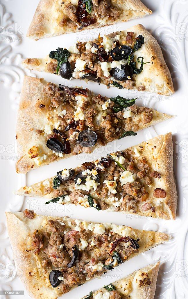 Rustic Pizza royalty-free stock photo