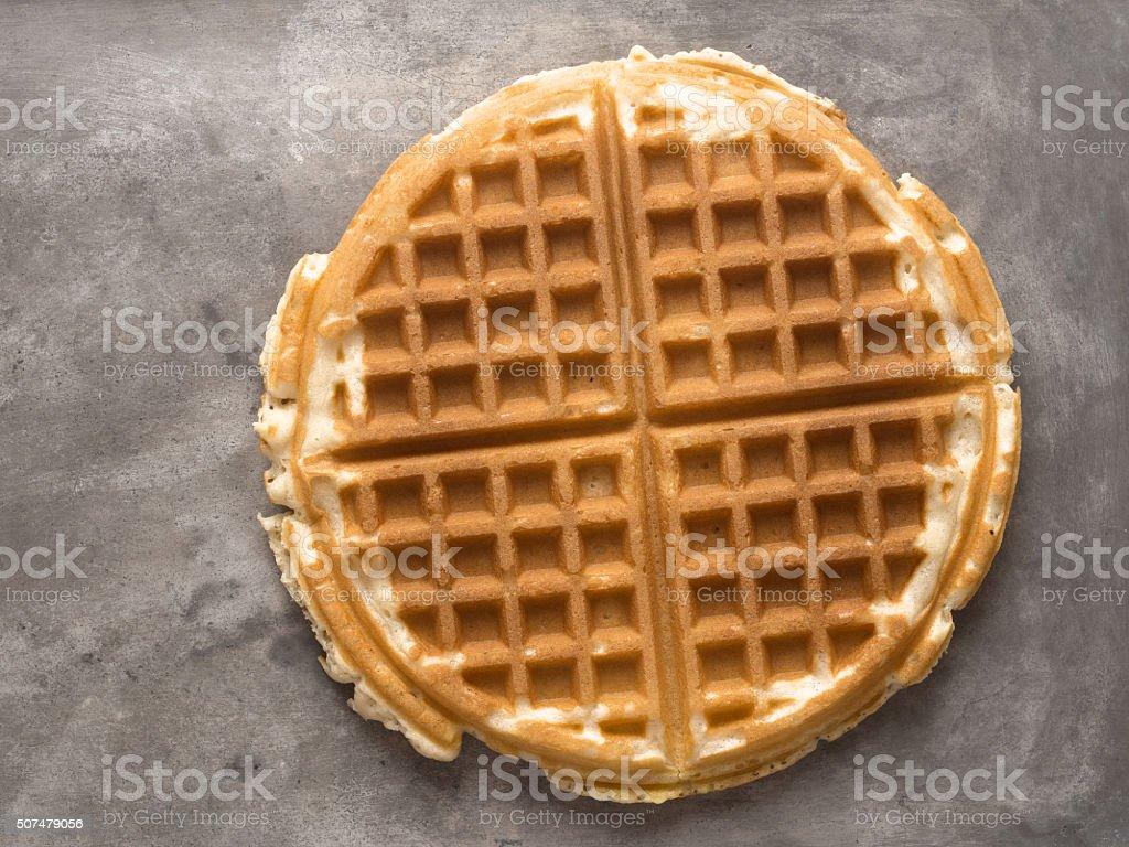 rustic plain waffle stock photo