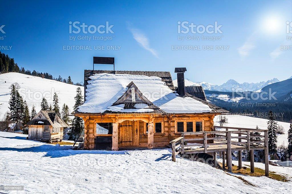 Rustic pub in Tatra Mountains, Poland stock photo