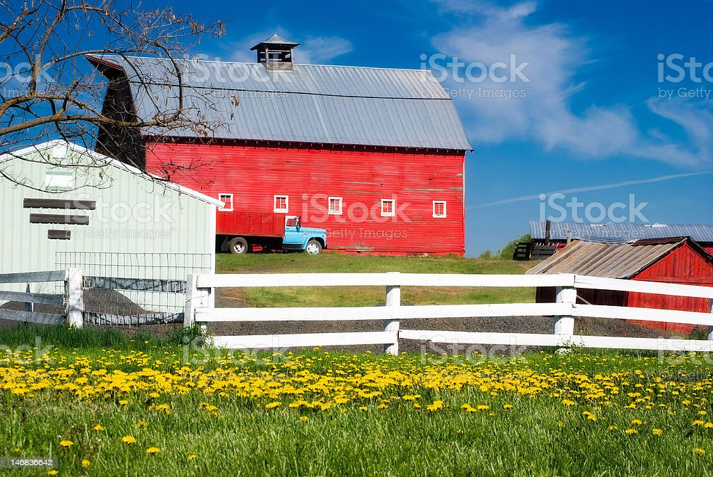 Rustic Red Barn stock photo