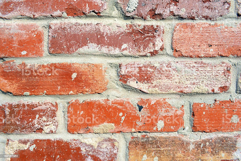 Rustic Red Brick and Mortor Full Frame Background stock photo